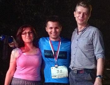 Bogdan Vaida alearga primul sau maraton