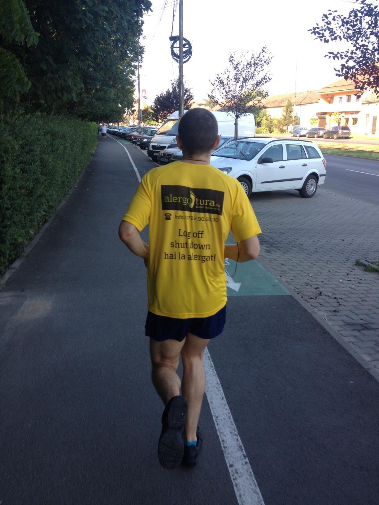 Jogging de dimineata pe stomacul gol la prima alergotura cu echipament oficial