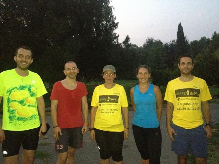 Laura a adunat echipa la alergare in Parcul Botanic