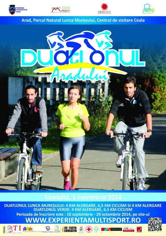 Pentru incepatori si mai putini incepatori, urmeaza doua competitii in apropiere Duatlonul si Triatlonul Aradului 2014