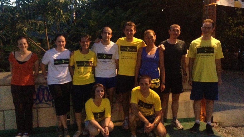 Alergotura Timisoara, miscare, voie buna, jogging in grup sau nu, pahar de vorba, 12 alergoturieni