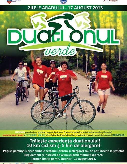 Ce mai facem în august? Alergare și pedalare la Duatlonul Verde, pe trasee răcoroase și umbroase din Arad